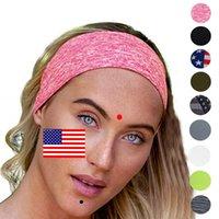 USA Stampa magica del turbante fascia bandiera a strisce stelle Copricapo velo sportivo titolare dei capelli Bandane ginnastica di yoga Parasudore LJJA4014