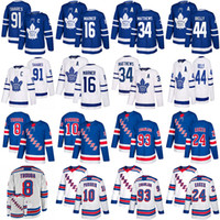 Maple Leafs 91 Tavares 16 Marner 34 Matthew New York Rangers Jersey 10 Panarin 24 Kakko 8 Jacob Trouba hockey Jerseys