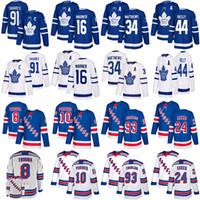 Toronto Maple Leafs Jersey 91 Tavares 16 Marner 34 Matthew New York Rangers Jersey 10 Panarin 24 Kakko 8 Jacob Trouba Hokeyi Formalar