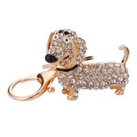 كريستال حجر الراين dachshund الحلي الأزياء الكلب قلادة حقيبة سحر سيارة مفاتيح حامل كيرينغ مجوهرات للنساء فتاة هدية مفتاح سلسلة التبعي