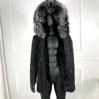 Herren Down Parkas Echt Pelzkragen Gesellter Kapuzenparka Winter Herren Outwear Hohe Qualität 2021 Klassische Jacke