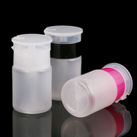 70ml Nail Art Press Bottles break Resistant Clear Empty Dispenser Pump Detergente Bottle Manicure