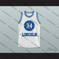 Jesus Shuttlesworth 34 Azul Lincoln High School Baloncesto Jersey Él consiguió Juego-3