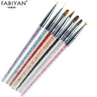 7pcs set Nail Art Brush Painting Drawing Pen Builder Fan Fla...