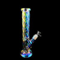 glow in the dark bong smoking pipes downstem perc glass bubb...