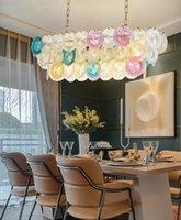 Moderno multulor oro lungo metallo lampadario di cristallo di lusso di lusso soggiorno domestico casa pendente lampada a sospensione dell'hotel decor fixture PA0627