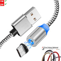 Type C  Micro cable Magnetic suction Charger Cable LED Metal...