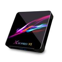 أحدث x 88 برو x3android 9.0 TV Box Amlogic S905X3 رباعية النواة 4 جيجابايت / 32 جيجابايت 4 كيلو h.265 2.4 جرام / 5gwifiBluetooth الذكية مجموعة أعلى مربع HGS