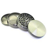 Bunte Grinder Schwarz-Silber-Legierung Durchmesser Zicn Günstige Pfeffermühlen 55mm 4-Schicht elektrisches Metall ginder für trockenes Kraut LXL879Q