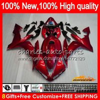 Body For YAMAHA pearl red hot YZF1000 YZF R 1 1000 CC YZF- 10...