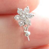 100% реальный S925 стерлингового серебра цветок Wome Жемчужный кулон монтаж DIY ожерелье ювелирные изделия настройки выводы аксессуары Оптовая продажа DZ002