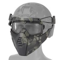 Тактическая маска Велоспорт Очки Открытый Спортивный Спортивный Airsoft Охота Охота Охота Полуконг Охота Косплей Стрельба Маска для лица с окунем