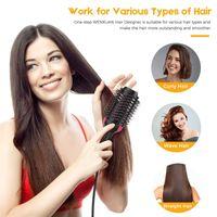 Um passo pêlos secador escova cabelo alisador de cabelo secadores de sopro elétricos com pente de cabelo ar ondulação de ferro