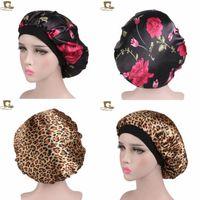 Copricapo da notte in raso da donna Copricapo Copricapo Copricapo Cappello in seta Ampia fascia elastica per cappellino chemio riccio per capelli elastici