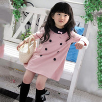 2-7Year Kids Girle Dress Primavera Autunno Bella manica lunga bambini vestiti per feste Lovely Girls Kids Dress 1-Piece