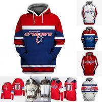 Washington Capitals Hoodie Jersey Mens 8 Alex Ovechkin 19 Nicklas Backstrom 74 John Carlson 77 T.J. Oshie 92 Evgeny Kuznetsov Hockey Jerseys