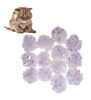 12 шт. Кошачьи майларовые шарики для морщин игрушки для кошек интерактивные звуковые шарики большие пластиковые шарики морщинистые кольца для бумаги из бумаги котенок игрушки для домашних животных