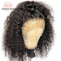 Honrin Hair Deep Curly 13x6 Deep Part Lace Front Wig Pre Plu...