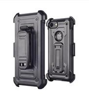 Voor iPhone 8 7 6 Plus X XS MAX XR met Kickstand Hoge Slagbestendige Armor Holster Defender Schokabsorptie Beschermhoes