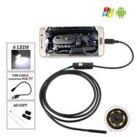 ALK 1 pc 5.5mm Lente 720 P Android USB Endoscópio Câmera Flexível Serpente USB Tubo de Telefone Android PC Inspeção Endoscópio Câmera