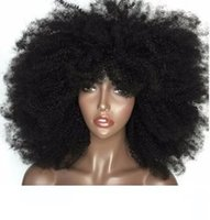 150% Density Lace Front Kinky Curly wigs 3C 4a Afro Curly Hu...