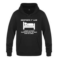 1ª Lei de Newton - Agora vá embora novidade criativa Moletons Men 2018 homens com capuz velo Pullover Hoodies