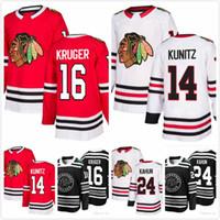 ebba6e6f3 New Arrival. Dominik Kahun Jersey 24 Marcus Kruger 16 Chris Kunitz 14  Andreas Martinsen 29 Brandon Davidson 22 Mens Hockey 2019 Chicago Blackhawks  ...