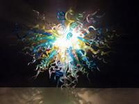 2018 Горячий продавать искусство Потолочный светильник 100% Mouth выдувное стекло Чихули Подвеска люстра лампа для кухни Церковь Декор