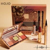 3pcs Makeup Set edle Diamant Make-up Geschenk-Box Farbe 9 Lidschatten Lippenstift Eyeliner Langlebige wasserdichte kosmetische Kit