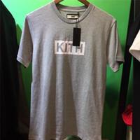 Yeni BOX KITH Tişörtlü Erkekler Kadınlar 1: 1 En İyi Kalite Kith tişört Klasik Streetwear Erkekler Pamuk Kısa Kollu Üst Tees Kith tişörtler