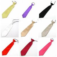 Baby School Elastic Neckties 26 Colors Fashion Boy Wedding Solid Colors Neck Ties Child School Party Tie Fashion Accessories Gifts EZYQ1546