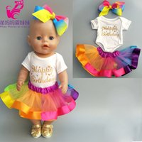 2019 new arrival doll dress for 43 Baby doll colorful rainbo...