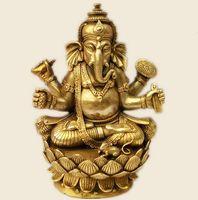 Buddismo tibetano, Tantra, Ganesha, Geneisha, Dio con testa di elefante, Statua, figura di Buddha, statuetta, dio della vittoria ~
