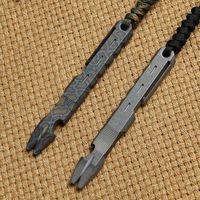 DICORIA Original Crowbar ossidazione anodica di titanio Manico piatto Punta piatta Punta di porco a punta Pry Bar Pry Caccia da campeggio EDC