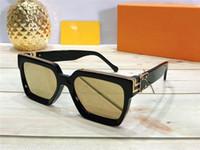 Gafas de sol del MILLONARIO de lujo para los hombres gafas de sol de diseño Vintage marco completo para los hombres brillante del logotipo del oro caliente de la venta de oro chapado Top Z1165E