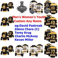 Personalizados Boston Bruins los jerseys del hockey 2019 Final de la Copa Stanley Karson Kuhlman Jersey Sean Kuraly Par Lindholm Nordstrom Brett Ritchie cosido