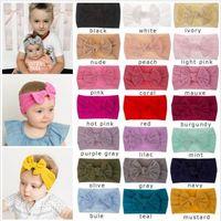 Fascia del bambino Turbante Bowknot di colore della caramella Headwear di modo della Boemia Capo avvolge Boutique Nodo capelli della fascia elastica dei capelli nappe Accessori B5061