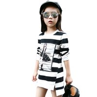 Kids Dress For Girls Long Sl Cartoon stampato Teenage Girls Party Dress Primavera Autunno Bambini vestiti 4 6 8 9 10 12 14 anni
