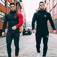Autumn New Mens Skinny Hoodies Sweatshirts Male Gyms Fitness...
