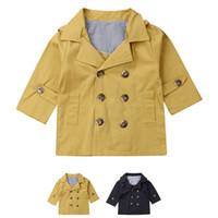 لطيف الاطفال الصبي طويلة الأكمام أزياء دافئ معطف الرياح مقنع خندق معطف 0-5 سنوات