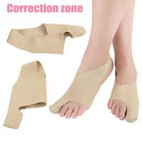 Venda quente 5 pares / lote joanete bandage endireitador bandage hálux valgo corrector pé cuidados ortose suporte frete grátis