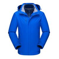Moda - Outdoor impermeabile 3 in 1 trekking Softshell Giacche Uomo traspirante in pile Cappotti Abbigliamento da trekking Escursioni Caccia Giacche da arrampicata
