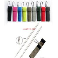 100pairs abnehmbare klappbare edelstahl stäbchen mit tasche tragbare outdoor wiederverwendbare anti-verbrühung rutschfeste geschenk
