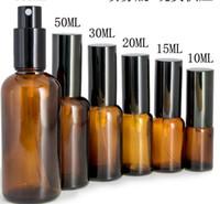 رش زجاجة عطر فارغة العنبر مستحضرات التجميل الحاويات اكسسوارات ضميمة تغليف تخزين مربع 30ML السفر زجاج النفط البخاخ