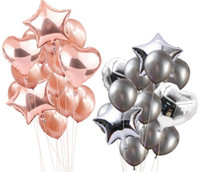 Foil Heart Balloons Set de globos de látex Wedding Party Decor Globos de látex para bodas Decoraciones para fiestas de cumpleaños