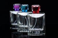 1pcs cilalı Cam Parfüm Şişesi Tasarımı Parfüm Atomizer Konteyner ile Sarin Cap Yüksek Kalite packa boşaltın 100ml