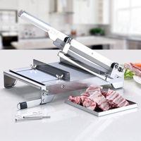 2020 dernier style machine de découpe manuelle osseuse machine à scier l'os trotteurs coupe de viande de canard de poulet congelé Cutter Slicer machine