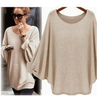 Women's Sweaters Kenancy 2021 Women Casual Sweater Knitted Batwing Pullovers Ladies Loose Autumn Outwear Fashion Jumper Pull Femme