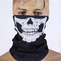 Cranio maschera di protezione di Halloween Skull Bandana casco della bici del fronte del collo Sciarpe Maschera Guanti Wrap Paintball Sport Ciclismo fascia Sciarpa 1000pcs IIA103