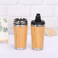 Bamboo Stainless Inner Bottle Water Cup Travel Mugs Reusable...